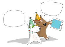 Bull terrier selfie Royalty Free Stock Photo