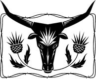 Bull and Thistles Royalty Free Stock Images