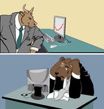 Bull trend. A symbolic depiction of bull (bullish) trend Stock Photography