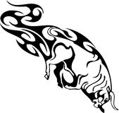 Bull in tribal style -  image. Royalty Free Stock Photo