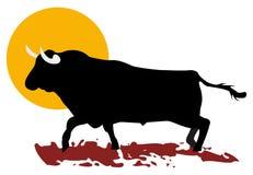 Bull und Sonne Stockfoto