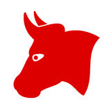 Bull vector icon Stock Photos