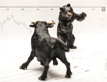 Bull Vs Bear Royalty Free Stock Images