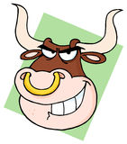 Bull With Nose Ring Royalty Free Stock Photo