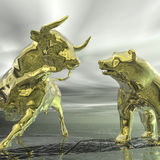 Bull y oso libre illustration