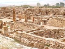 Bulla regia tunisia. Ancient ruins historic architecture bulla regia tunisia north africa . underground houses Royalty Free Stock Photo
