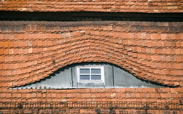 Bullaugetyp Fenster lizenzfreie stockbilder