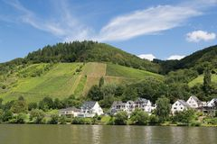 Bullay, a little town along the river Moselle Royalty Free Stock Photos