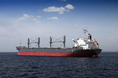 Bullcarrier anchored Stock Images