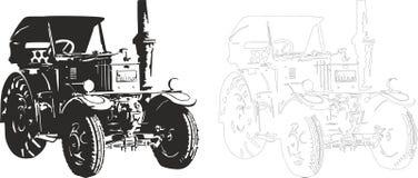 Bulldock. Vector illustration of an old car,  bulldock Royalty Free Stock Photo