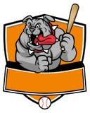 Bulldog baseball mascot Stock Photography