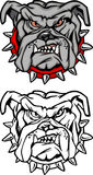 Bulldog Cartoon Mascot Vector Logo Stock Photo
