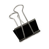 Bulldog Clip. A large bulldog clip or binder clip, isolated on white with soft shadow Royalty Free Stock Image