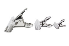Bulldog Clips. On White Background Royalty Free Stock Photography