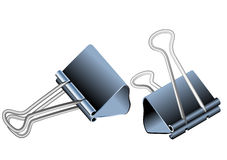 Bulldog clips Stock Photo