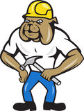 Bulldog Construction Worker Hammer Royalty Free Stock Photos