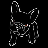 Bulldog dog animal french vector illustration pet breed cute drawing puppy Royalty Free Stock Photo