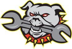 Bulldog Dog Spanner Head Mascot Stock Photos