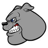 Bulldog Fighting Mascot. Cartoon illustration of a Bulldog Fighting Mascot Stock Photo