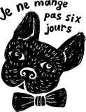 Bulldog francese illustrazione di stock