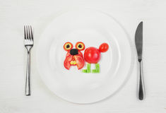 Bulldog of fresh tomatoes Royalty Free Stock Images