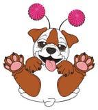 Bulldog with funny hoop Royalty Free Stock Photo