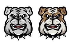 Bulldog Head Mascot in Cartoon Style. Bulldog Head Mascot Illustration in Cartoon Style. Great for Merchandise, Sport team logo, e-sport team logo, etc vector illustration