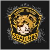 Bulldog head mascot - security emblem. Royalty Free Stock Photography