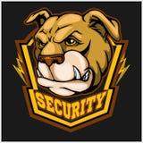 Bulldog head mascot - security emblem. Stock Photography