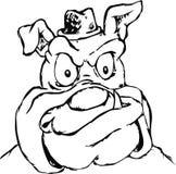 Bulldog head symbol vector Royalty Free Stock Photos