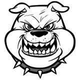 Bulldog head on View Illustration Stock Photos