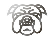 Bulldog icon - vector illustration Royalty Free Stock Photography