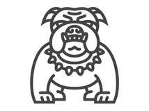 Bulldog icon - vector illustration Royalty Free Stock Photo