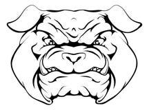 Bulldog. An illustration of a tough looking bulldog animal sports mascot or character Royalty Free Stock Photography
