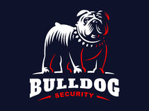 Bulldog logo - vector illustration, emblem Royalty Free Stock Images
