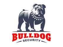 Bulldog logo - vector illustration, emblem Royalty Free Stock Photo
