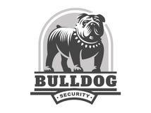 Bulldog logo - vector illustration, emblem Stock Photography
