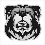 Bulldog Mascot Cartoon Face Royalty Free Stock Photo