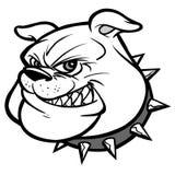 Bulldog Mascot Head Illustration Royalty Free Stock Photo