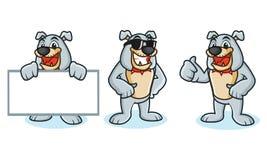 Bulldog Mascot Vector happy Royalty Free Stock Image