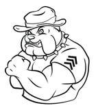 Bulldog security Stock Image