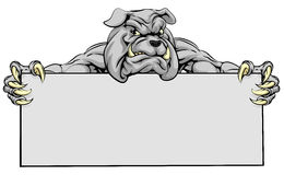 Bulldog Sports Mascot Sign Royalty Free Stock Photos