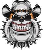 Bulldog in un cappello da cowboy royalty illustrazione gratis
