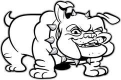 bulldoggclassicillustration royaltyfri illustrationer