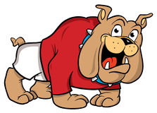 Bulldoggekarikaturabbildung Stockfotografie