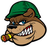 Bulldoggen-Armee-Maskottchen stock abbildung