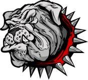 Bulldoggen-Karikatur-Gesichts-Abbildung Lizenzfreie Stockbilder