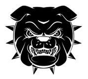 Bulldoggen-Kopf lizenzfreie abbildung