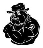 Bulldoggensicherheit vektor abbildung