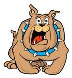 bulldoggtecknad filmillustration vektor illustrationer